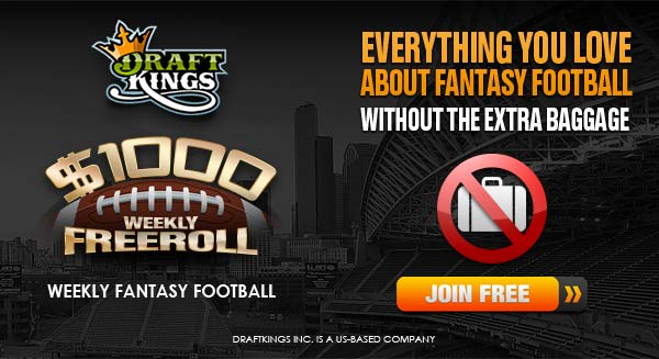 DraftKings $1000 Week 9 Fantasy Freeroll