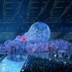 Aug 12, 2012; London, United Kingdom; An enormous multicolored octopus takes center stage during the Closing Ceremony for the London 2012 Olympic Games at Olympic Stadium. Mandatory Credit: John David Mercer-USA TODAY Sports