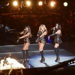 Feb 3, 2013; New Orleans, LA, USA; Beyonce (center), Kelly Rowland (left), and Michelle Williams (right) of Destinys Child perform during the halftime show in Super Bowl XLVII between the San Francisco 49ers and the Baltimore Ravens at the Mercedes-Benz Superdome. Mandatory Credit: Richard Mackson-USA TODAY Sports