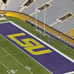 September 8, 2012; Baton Rouge, LA, USA; A general view of the endzone prior to kickoff of a game between the LSU Tigers and the Washington Huskies at Tiger Stadium. Mandatory Credit: Derick E. Hingle-USA TODAY Sports