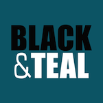 Black And Teal Logo