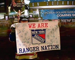 Ranger fans prepare to invade the Garden for the preseason. (rangers.nhl.com)