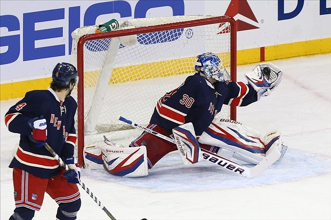 USA  New York Rangers goalie Henrik Lundqvist  30  makes a glove save    Henrik Lundqvist Glove Save