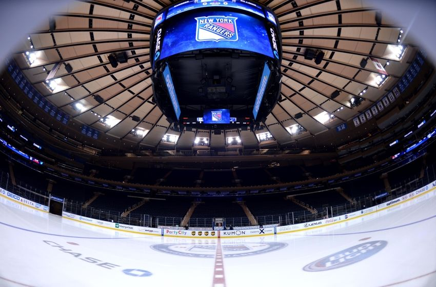 Jan 23, 2014; New York, NY, USA; A general view of the ice rink prior