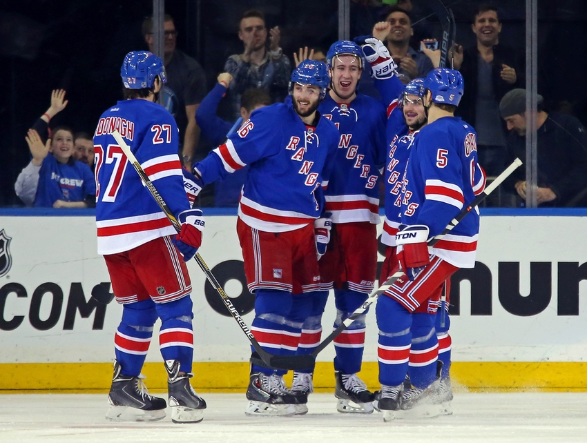 Feb 24, 2015; New York, NY, USA; New York Rangers right wing Kevin ...