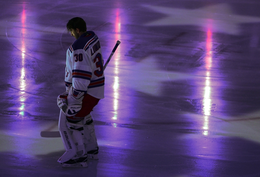 Dec 9, 2015; Vancouver, British Columbia, CAN; New York Rangers goaltender Henrik Lundqvist (30) stands before the start of the first period against the Vancouver Canucks at Rogers Arena. Mandatory Credit: Anne-Marie Sorvin-USA TODAY Sports