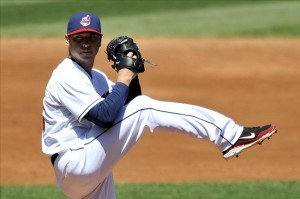 May 9, 2013; Cleveland, OH, USA; Cleveland Indians starting pitcher <strong/><p class=