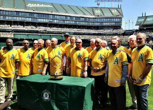 Through the years, the Oakland A's have honored players from the World Championship 72-74 teams and retired players' numbers from that era. Finley's credit is lacking. PHOTO Richard Paloma