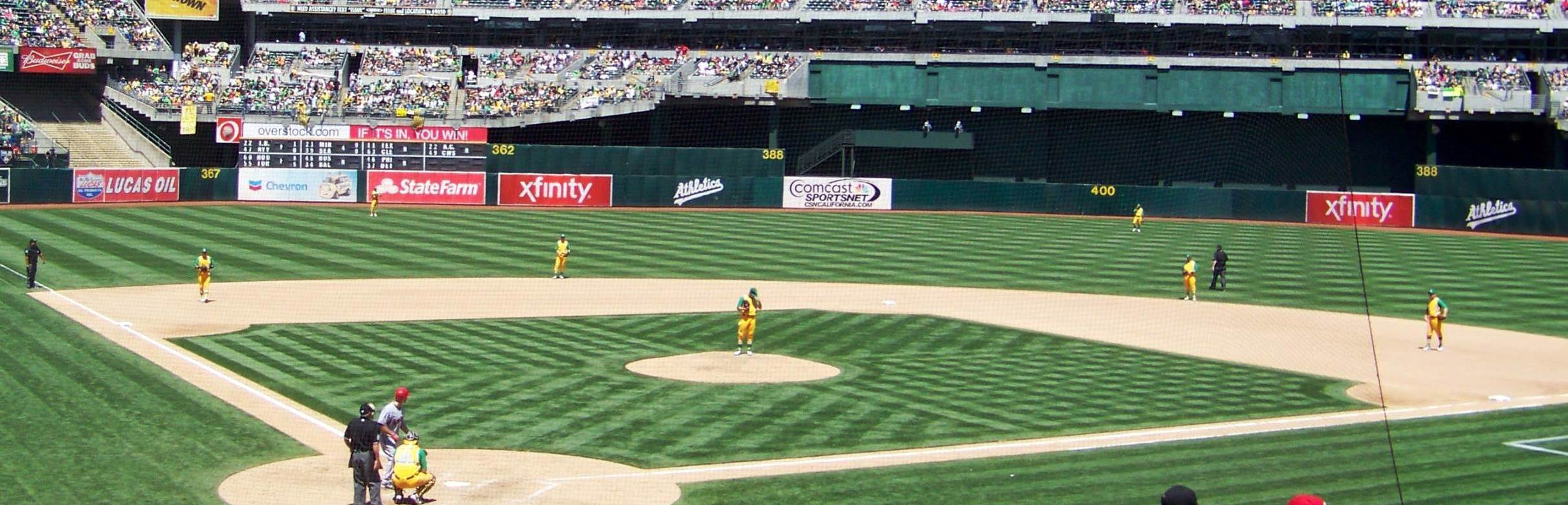 Since the 1996 renovations, gone are the splendid views of the Oakland Hills, replaced with the god-ugly and unusable Mount Davis structure in the outfield and fan-friendly bleachers PHOTO RICHARD PALOMA
