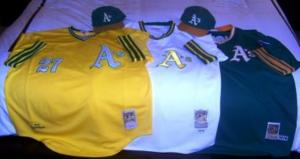 The A's have a rich heritage of colorful jerseys which were introduced in 1972 Photo Credit Rich Paloma