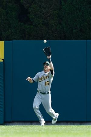 After being obtained via trade, Reddick became the A's starting right fielder for 2012 and won a Rawliings Gold Glove for his performance. Credit: Rick Osentoski-USA TODAY Sports