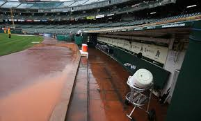 In July both clubhouses and the umpires' locker room were flooded with raw sewage. Another big sewage flood took place last September, following heavy rains. Credit: Kelley Cox USA Today