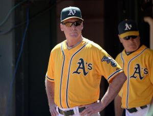 Manager Bob Melvin and Pitching Coach Curt Young should be satisfied with the starting rotation's first week performance and its 1.7 ERA Credit: Bob Stanton-USA TODAY Sports
