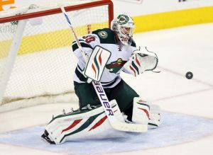 Minnesota Wild goalie Ilya Bryzgalov make another save en route to his second straight shut out.