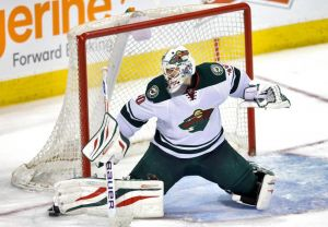 Minnesota Wild #1 goal tender for game one of the Stanley Cup Playoffs Ilya Bryzgalov.