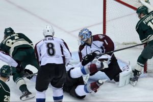 Minnesota Wild forward Mikael Granlund score the winning goal in overtime against Colorado