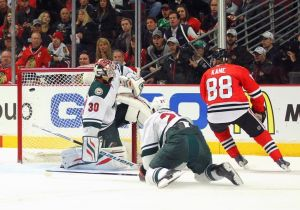 Minnesota Wild goalie Bryzgalov fails to stop Patrick Kane who went end to end on this play