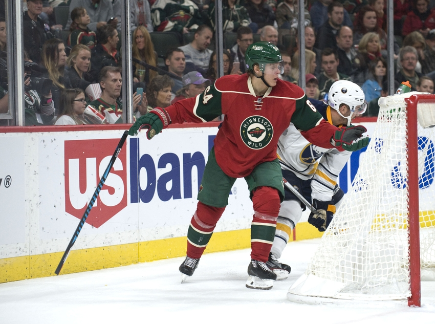 Larsson scores in 3rd to lift Sabres over Wild 2-1