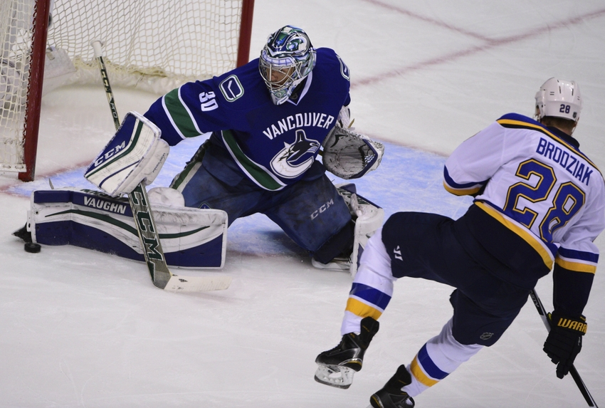 Ryan-miller-kyle-brodziak-nhl-st.-louis-blues-vancouver-canucks