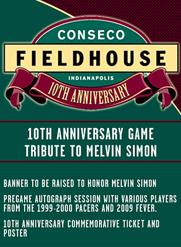 Conseco Fieldhouse Anniversary