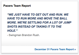 Brandon Rush Pacers Quote