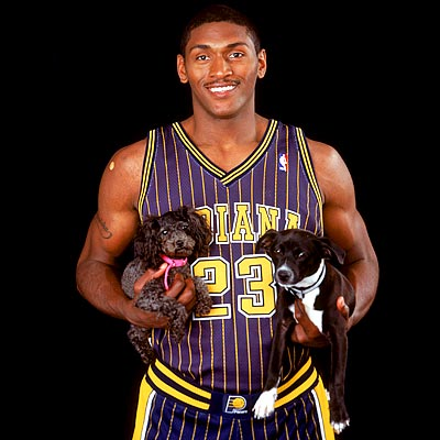 ron artest with puppies