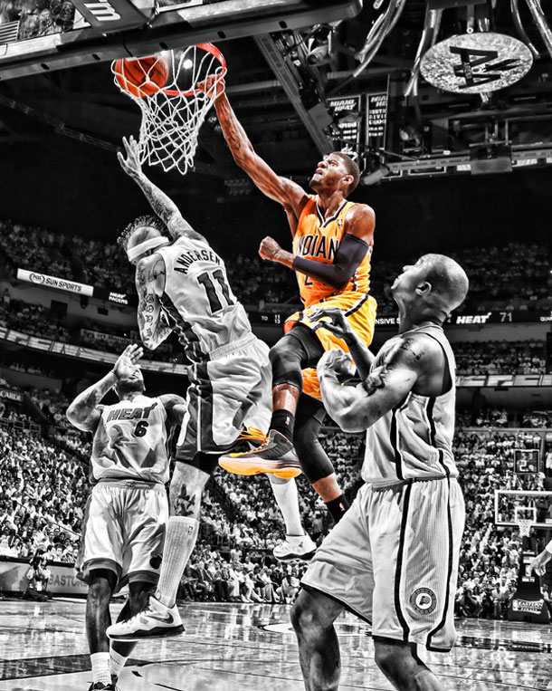 a poster of paul george putting birdman on a poster