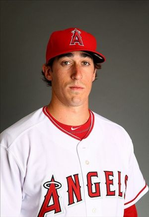 Feb 26, 2014; Tempe, AZ, USA; Los Angeles Angels pitcher Brian Moran poses for a portrait during photo day at Tempe Diablo Stadium. Mandatory Credit: Mark J. Rebilas-USA TODAY Sports
