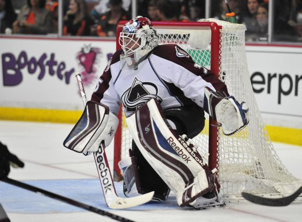 Colorado Avalanche Highlight: Giguere Plays Final Game