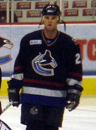 Steve McCarthy with the Vancouver Canucks