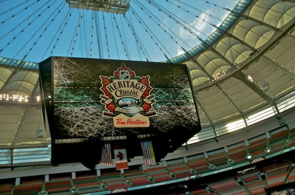 """NHL Heritage Classic at BC Place"" by Rebecca Bollwitt is licensed under CC BY-NC-SA 2.0"