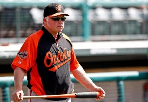 March 18, 2012; Lake Buena Vista, FL, USA; Baltimore Orioles manager Buck Showalter before a spring training game against the Atlanta Braves at Disney Wide World of Sports complex. Mandatory Credit: Derick E. Hingle-US PRESSWIRE