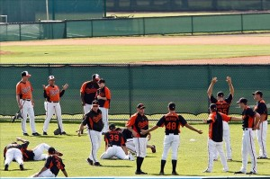 March 20, 2012; Sarasota, FL, USA; Baltimore Orioles - Derick E. Hingle-US PRESSWIRE