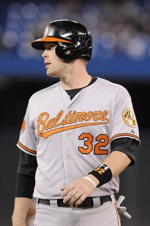 Matt Wieters, pictured on first base during a game Sept. 15 at Toronto. Photo: Mark Konezny-USA TODAY Sports