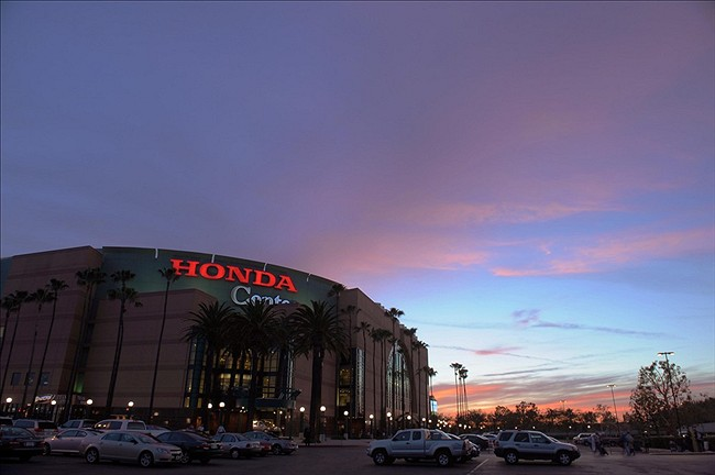 The Honda Center during a game between the Anaheim Ducks and the Edmonton Oilers in March 2012.
