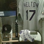Jennings bat/Tracy cap/Helton bat/Helton jersey