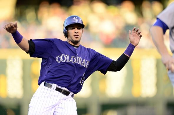 Cristhian Adames of the Colorado Rockies