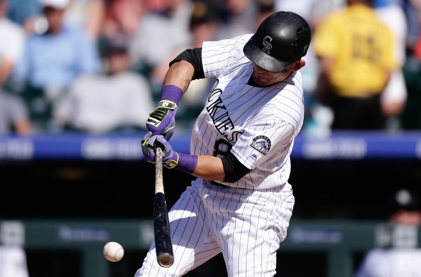 Gerardo Parra of the Colorado Rockies