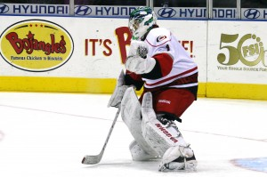 John Muse with the Charlotte Checkers (Photo: Renee Kalicicki)