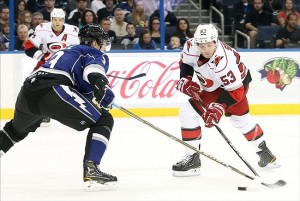 Skinner Nets Two Goals Against Lightning. Mandatory Credit: Kim Klement-US PRESSWIRE