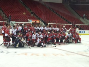 The 2012 Hurricanes Alumni Fantasy Team. Photo Credit: Jennifer Caslin