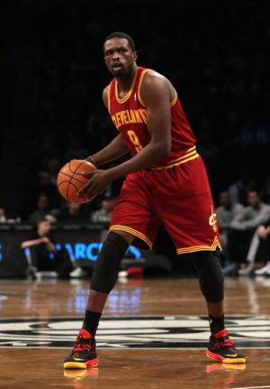Mar 28, 2014; Brooklyn, NY, USA; Cleveland Cavaliers forward Luol Deng (9) during the first half against Brooklyn Nets at Barclays Center. Mandatory Credit: Noah K. Murray-USA TODAY Sports