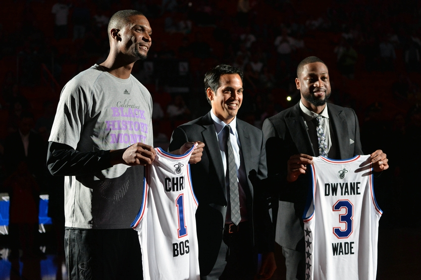 8376219-erik-spoelstra-dwyane-wade-chris-bosh-nba-new-york-knicks-miami-heat