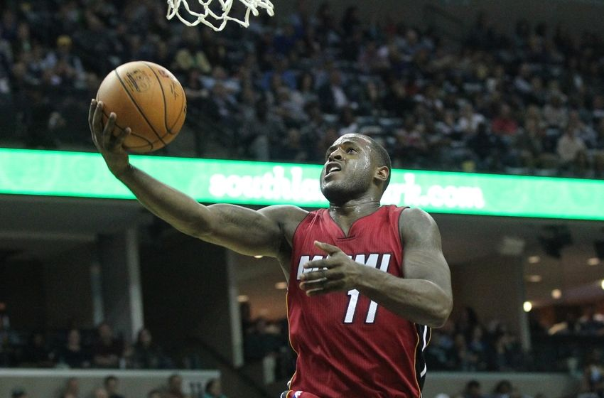 Nov 25, 2016; Memphis, TN, USA; Miami Heat guard Dion Waiters (11) drives to the basket against the Memphis Grizzlies at FedExForum. Miami defeated Memphis 90-81. Mandatory Credit: Nelson Chenault-USA TODAY Sports