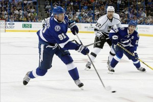 Steven Stamkos (91) Mandatory Credit: Kim Klement-USA TODAY Sports