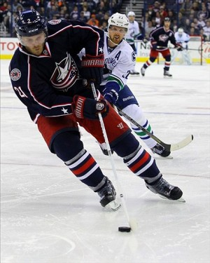 Columbus Blue Jackets defenseman James Wisniewski Photo by: Rob Leifheit-USA TODAY Sports