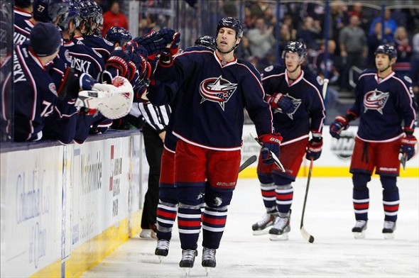 Columbus Blue Jackets center R.J. Umberger Photo By: Russell LaBounty-USA TODAY Sports
