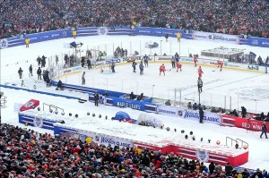 Jan 1, 2014; Ann Arbor, MI, USA; A general view of Michigan Stadium during the 2014 Winter Classic hockey game between the Detroit Red Wings and the Toronto Maple Leafs. Mandatory Credit: Andrew Weber-USA TODAY Sports