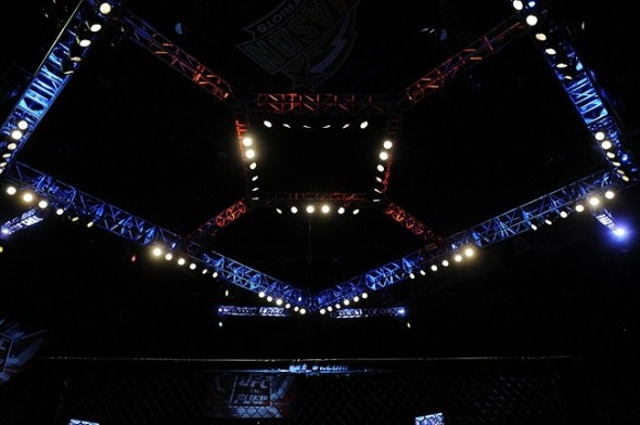 May 15, 2012; Fairfax, VA, USA; A general view of the octagon during the Korean zombie vs Poirier event at Patriot Center. Mandatory Credit: Rafael Suanes-USA TODAY Sports