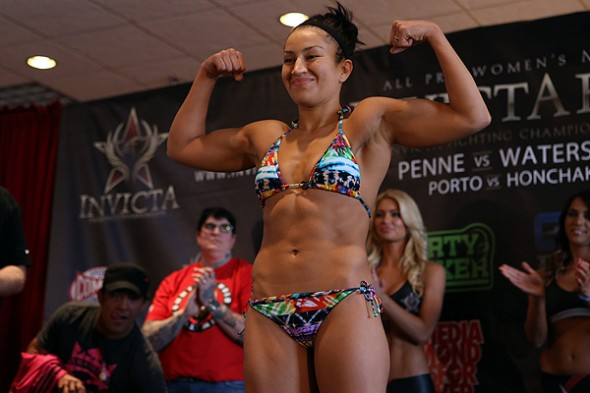 Zoila Frausto Gurgel at the Invicta FC 5 weigh-ins. Photo Credit: Esther Lin-Invicta FC